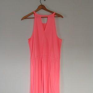 GAP neon knitaxi dress large EUC